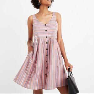 Madewell Rainbow Stripe Scoop-neck Tank Dress